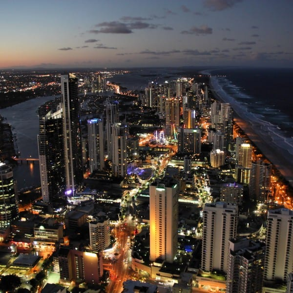 Gold Coast aerial shot